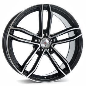alloy wheel AXXION AX8 mattschwarz Front poliert 20 inches 5x112 PCD ET35 11326