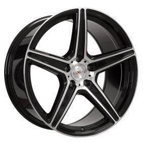 alloy wheel AXXION AX7 mattschwarz Front poliert 19 inches 5x112 PCD ET35 12031