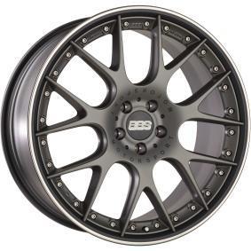 lichtmetalen velg BBS CH-RII platinum schwarz 22 inches 5x112 PCD ET26 10022663