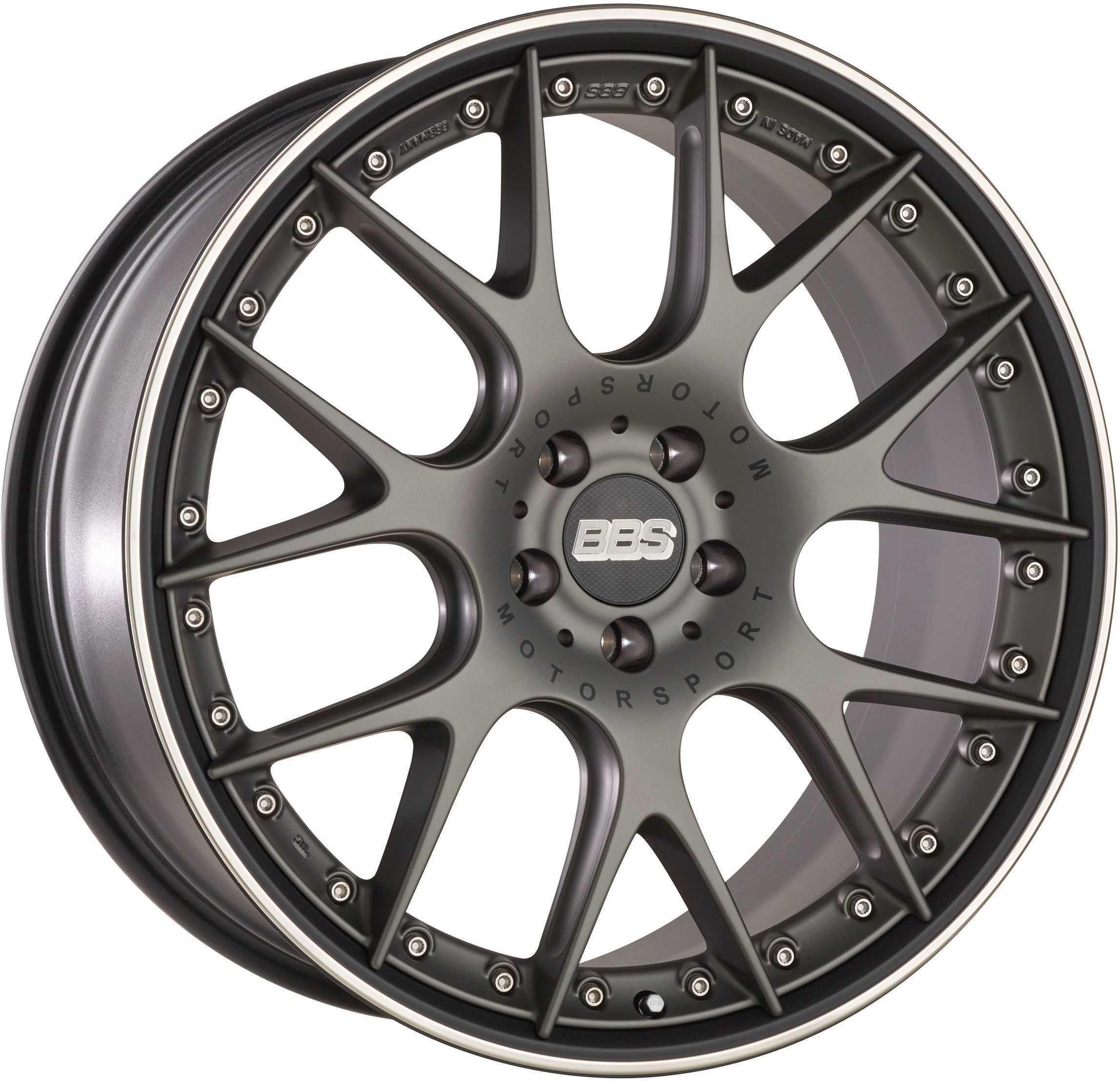 BBS CH-RII platinum schwarz lichtmetalen velg 11.5xR22 PCD 5x112 ET38 d82.00