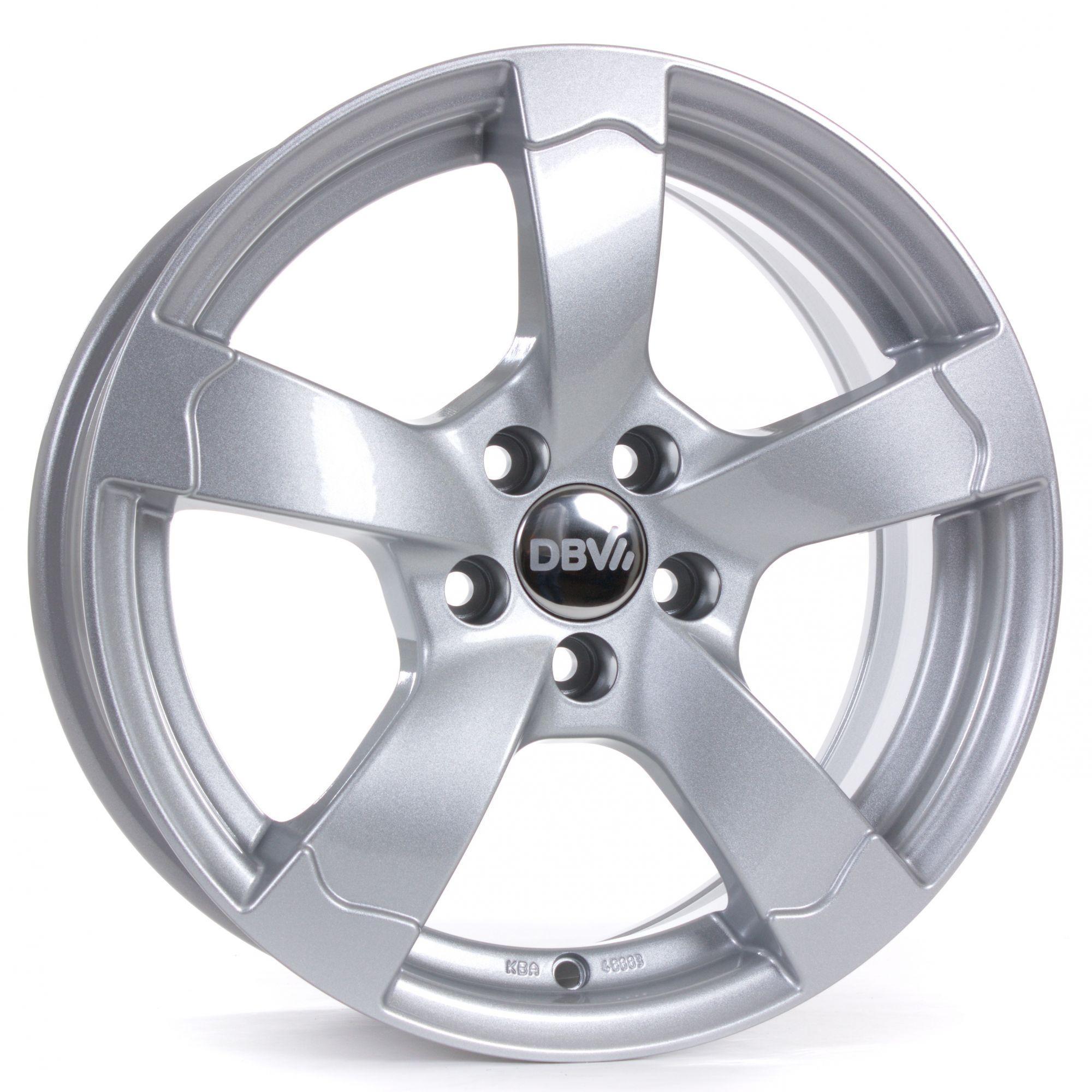 DBV Torino II briljant zilver geschilderd lichtmetalen velg 7xR16 PCD 5x112 ET45 d66.60