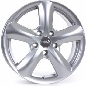alloy wheel DBV SAMOA brilliant silver painted 17 inches 5x114.3 PCD ET45 33368