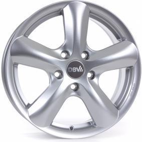 lichtmetalen velg DBV SAMOA briljant zilver geschilderd 17 inches 5x114.3 PCD ET45 33368