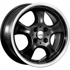 alloy wheel DBV Tahiti hyper silber schwarz Horn poliert 14 inches 4x100 PCD ET37 14727