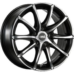 alloy wheel DBV Tropez mattschwarz Front poliert 15 inches 5x112 PCD ET38 36182