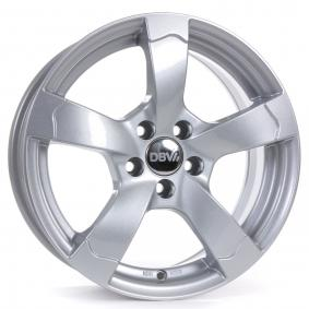 lichtmetalen velg DBV Torino II briljant zilver geschilderd 16 inches 5x114.3 PCD ET40 33765
