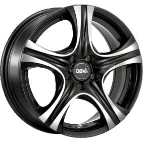 alloy wheel DBV Malaya mattschwarz Front poliert 15 inches 5x100 PCD ET40 36276