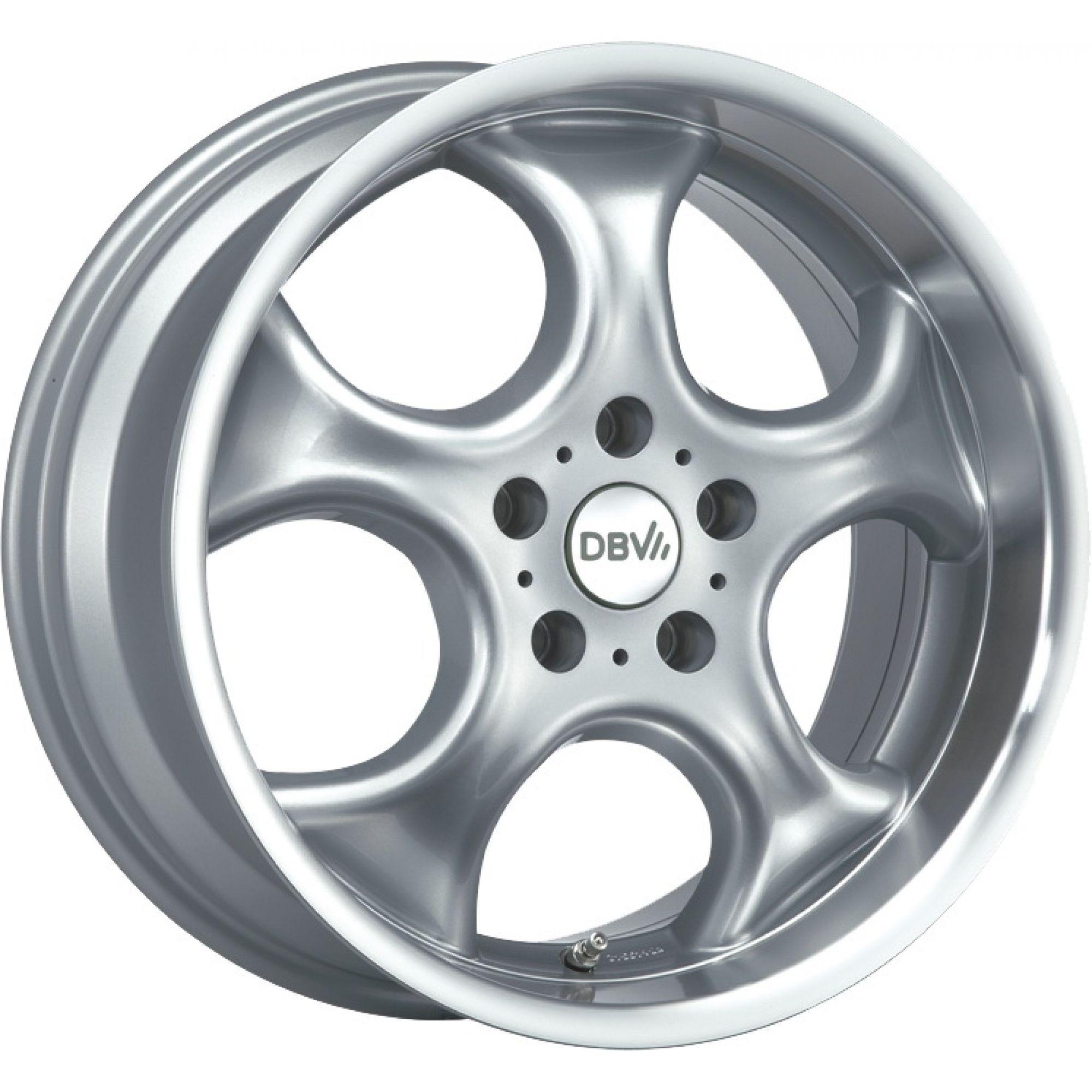 DBV Tahiti brilliant silver painted alloy wheel 5.5xR13 PCD 4x100 ET38 d63.30
