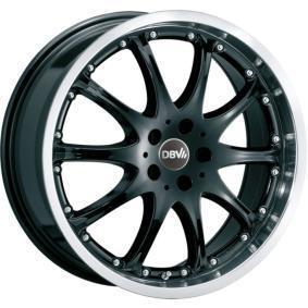 alloy wheel DBV Australia mattschwarz Front poliert 15 inches 4x100 PCD ET38 35706