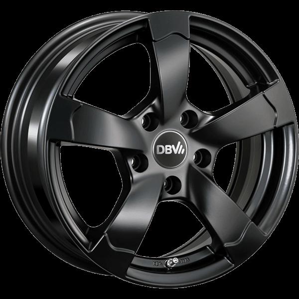 DBV Torino II hyper silber schwarz Horn poliert lichtmetalen velg 7xR16 PCD 5x112 ET45 d66.60