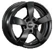DBV Torino II, 16Tommer, hyper silber schwarz Horn poliert, 5-hul, 112mm, alufælg 33773