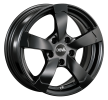 DBV Torino II, 16Inch, hyper silber schwarz Horn poliert, 5-fori, 112mm, cerchio in lega 33773