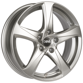 DBV 5SP 001 briljant zilver geschilderd lichtmetalen velg 6.5xR16 PCD 5x112 ET41 d57.10