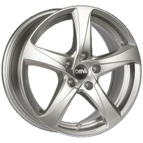 alloy wheel DBV 5SP 001 brilliant silver painted 16 inches 5x112 PCD ET41 DA6HM41SXX
