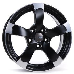 alloy wheel DBV Torino II mattschwarz Front poliert 16 inches 5x100 PCD ET38 33761