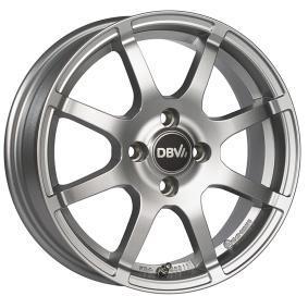alloy wheel DBV Bali II brilliant silver painted 15 inches 4x100 PCD ET36 36405