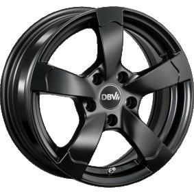 Alufelge DBV Torino II hyper silber schwarz Horn poliert 16 Zoll 5x114.3 PCD ET40 33768