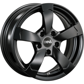 alloy wheel DBV Torino II hyper silber schwarz Horn poliert 16 inches 5x114.3 PCD ET40 33768