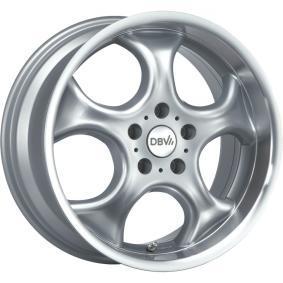 alloy wheel DBV Tahiti silber Horn poliert 13 inches 4x100 PCD ET38 29919