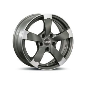 lichtmetalen velg DBV Torino II anthrazit Front poliert 18 inches 5x112 PCD ET48 33806