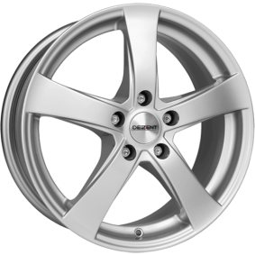 alloy wheel DEZENT RE brilliant silver painted 17 inches 4x100 PCD ET38 TREY2SA38