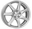 DEZENT TW silver, 15Inch, brilliant silver painted, 4-Hole, 100mm, alloy wheel TTWK2SA38