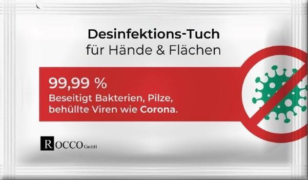 Handdesinfektionstücher ROCCO 0168 Bewertung