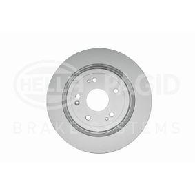 HELLA Спирачни дискове плътен, с покритие, без болтове за закрепване на колелата, без колесна главина