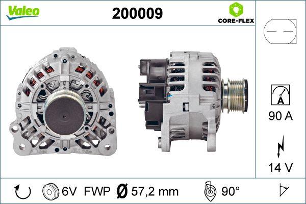 Lichtmaschine 200009 VALEO 200009 in Original Qualität
