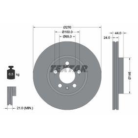 Bremsscheibe Bremsscheibendicke: 24,0mm, Ø: 276mm mit OEM-Nummer 2Q0 615 301 H