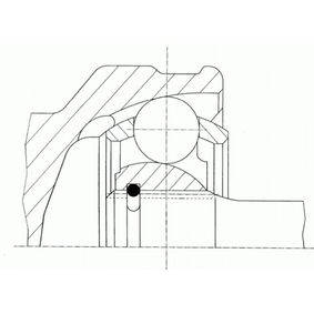 Gelenksatz, Antriebswelle Außenverz.Radseite: 25, Innenverz. Radseite: 23 mit OEM-Nummer 95908455