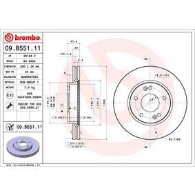 Brake Disc Brake Disc Thickness: 26mm, Num. of holes: 5, Ø: 280mm with OEM Number 517 123 K010