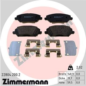 Brake Pad Set, disc brake Width: 149mm, Height: 60mm, Thickness: 20mm with OEM Number 58101-G4A10