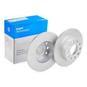 Bremsscheibe Bremsscheibendicke: 10mm, Ø: 253mm mit OEM-Nummer 5C0615601
