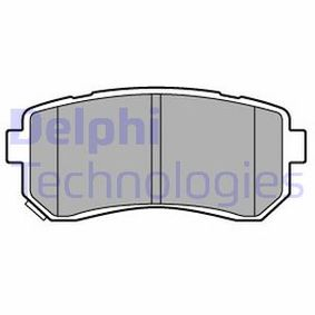 Brake Pad Set, disc brake Height 2: 41mm, Height: 41mm, Thickness 1: 16mm with OEM Number 583024WA10(-)