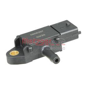 Sensore, Pressione gas scarico N° poli: 3a... poli, N° raccordi: 1 con OEM Numero 51 792 301