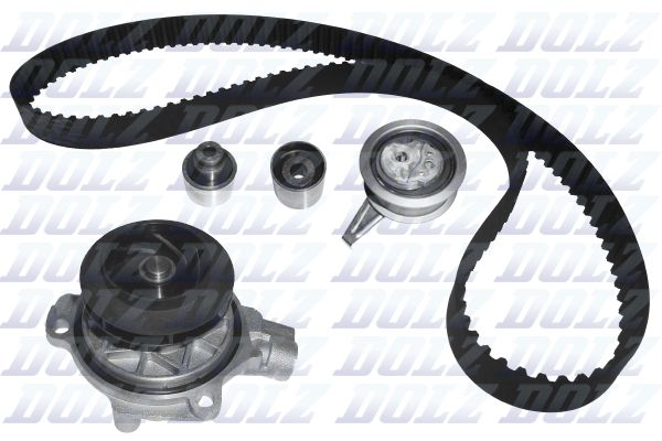 DOLZ  KD153 Water pump and timing belt kit Width: 25mm