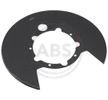 originais A.B.S. 15834432 Chapa deflectora, disco de travão