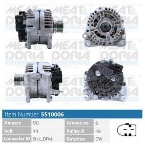 Lichtmaschine mit OEM-Nummer 037 903 025T