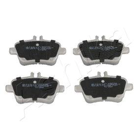 2013 Mercedes W176 A 200 1.6 (176.043) Brake Pad Set, disc brake 51-00-0501