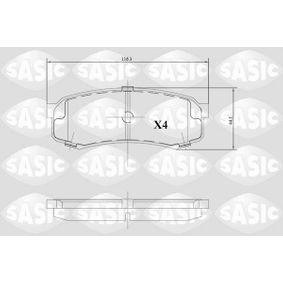 Bremsbelagsatz, Scheibenbremse Dicke/Stärke: 15,3mm mit OEM-Nummer 04466-60140