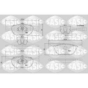 Bremsbelagsatz, Scheibenbremse Dicke/Stärke: 16,8mm mit OEM-Nummer 9947600