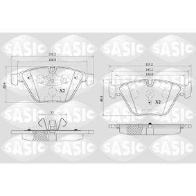 Bremsbelagsatz, Scheibenbremse Dicke/Stärke: 19,8mm mit OEM-Nummer 3411 2 288 858