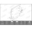OEM Bremsbelagsatz, Trommelbremse KBL19283.0-1686 von BERAL