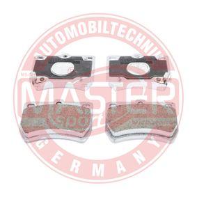 MASTER-SPORT Bremsebelegg med akustisk slitasjevarsel, med antihyle blikk