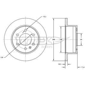 Bremsscheibe Bremsscheibendicke: 16,3mm, Lochanzahl: 6, Ø: 298mm mit OEM-Nummer 2E0 615 601 A