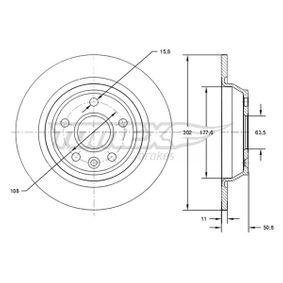 Bremsscheibe Bremsscheibendicke: 11mm, Lochanzahl: 5, Ø: 302mm mit OEM-Nummer LR027123