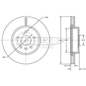Bremsscheibe Bremsscheibendicke: 30mm, Lochanzahl: 5, Ø: 321mm mit OEM-Nummer 13.502.214