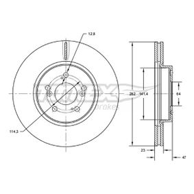 Brake Disc Brake Disc Thickness: 23mm, Num. of holes: 5, Ø: 282mm with OEM Number 45251-SMG-E31