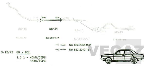 VEGAZ  AR-24 Abgasanlage